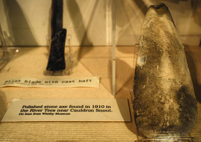 A Polished Axe Blade found in the Tees