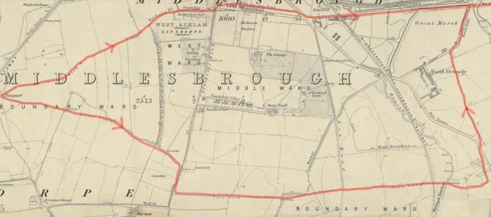 1853 OS Trod Routes