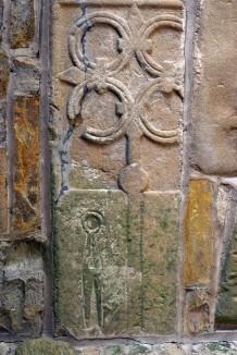 Stanwick Church cross slab with shears