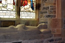Stanwick Church weathered effigy