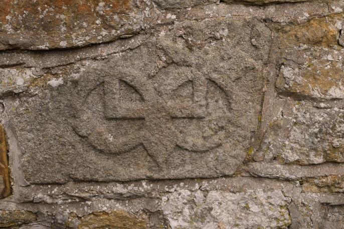 Stanwick Church exterior wall