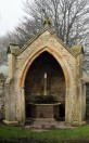 Stanwick Church. Well in the enclosure wall