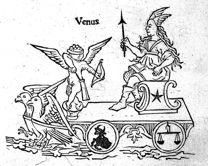 Woodcut,_showing_Venus_in_chariot._Wellcome_L0006603