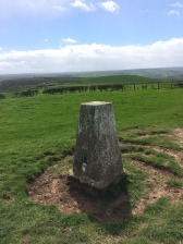 Trig point looking inland