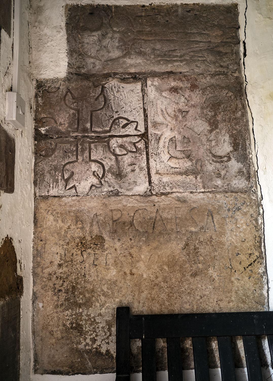 Cross Slabs and Roman Inscription