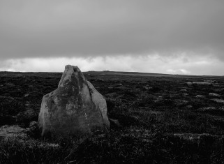 standing stone with barrows